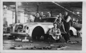 Dad working on Aston Martin prototype