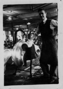 Dad working on Aston Martin prototype