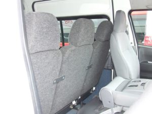Rear-facing seat- view from front.  No reinforcing beam fitted