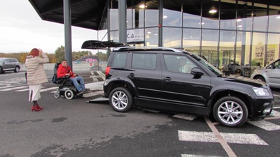 French Built U-Drive Skoda Yeti mobility vehicle, Certified to E